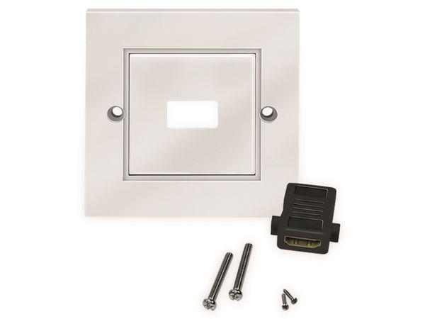 HDMI-Wanddose LOGILINK, 1-Port, weiß - Produktbild 4