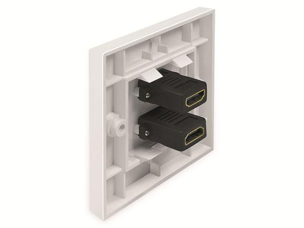 HDMI-Wanddose LOGILINK, 2-Port, weiß - Produktbild 3