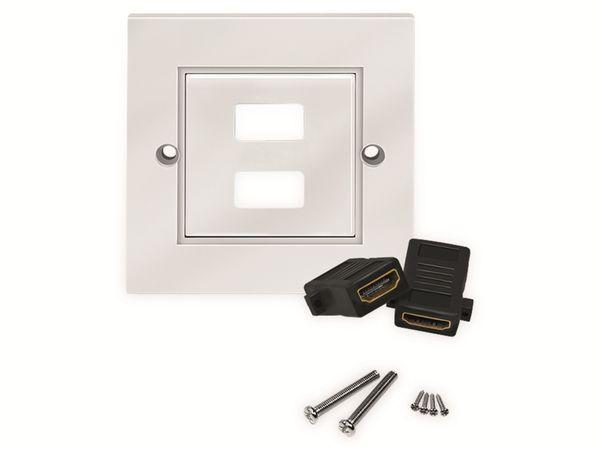 HDMI-Wanddose LOGILINK, 2-Port, weiß - Produktbild 4