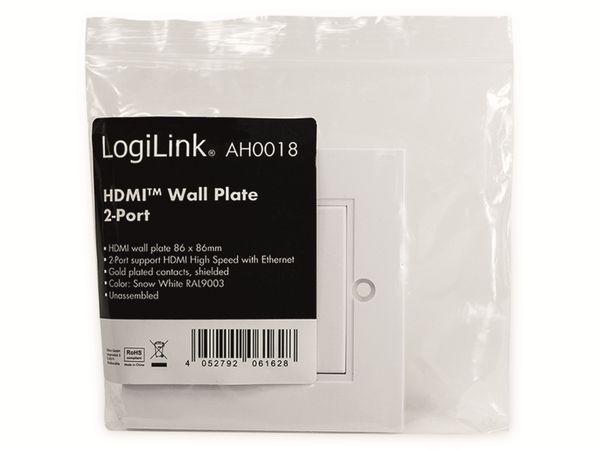 HDMI-Wanddose LOGILINK, 2-Port, weiß - Produktbild 6
