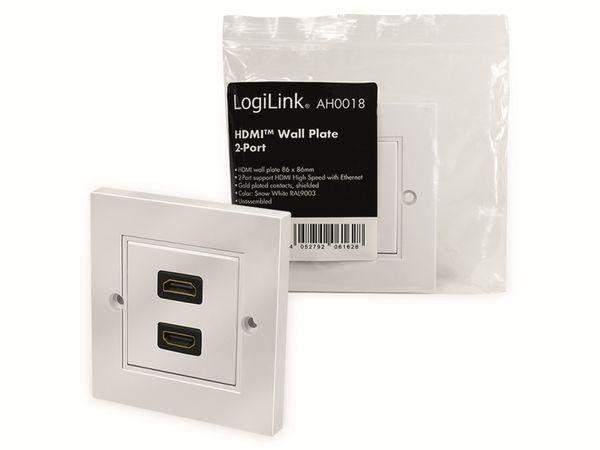 HDMI-Wanddose LOGILINK, 2-Port, weiß - Produktbild 7