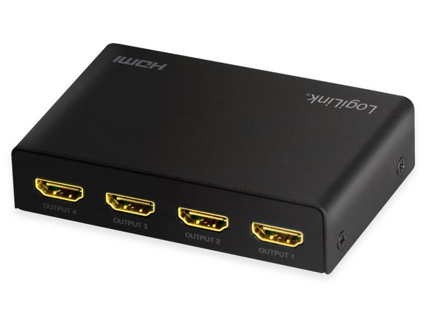 HDMI-Splitter LOGILINK HD0038, 1x4-Port, 4K/60 Hz, Downscaler, EDID - Produktbild 2