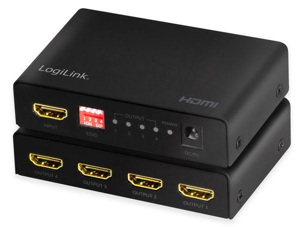 HDMI-Splitter LOGILINK HD0038, 1x4-Port, 4K/60 Hz, Downscaler, EDID - Produktbild 3