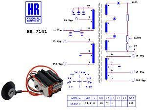 Zeilentrafo HR7141