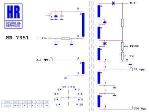 Zeilentrafo HR7351