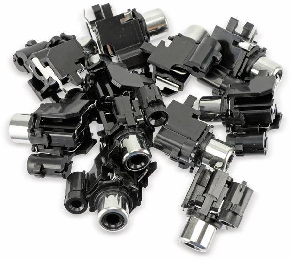 Cinch-Einbaubuchse, 1-fach, schwarz, 10 Stück - Produktbild 6