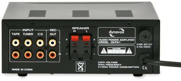 Mini-HiFi-Verstärker DYNAVOX CS-PA1, schwarz - Produktbild 2
