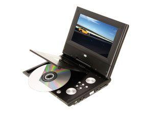 "Portabler DVD-Player HERU PTV34509, 17,8 cm (7"") - Produktbild 1"