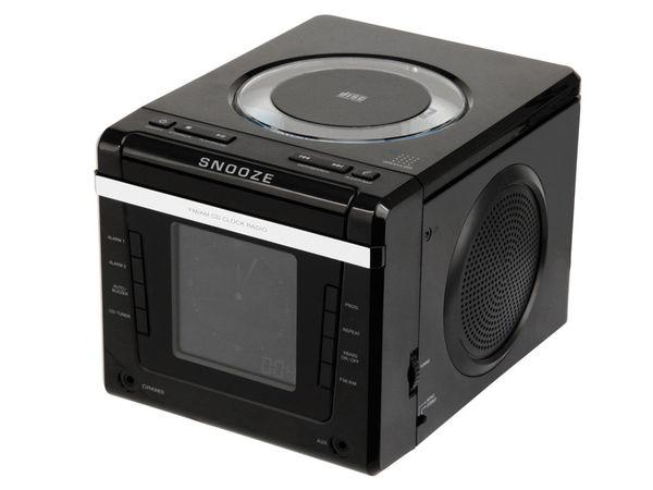 Uhrenradio mit CD-Player, schwarz - Produktbild 1