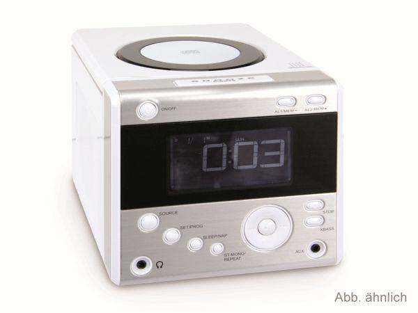 Uhrenradio mit CD-Player, weiß - Produktbild 1
