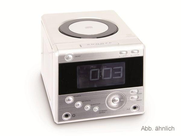 Uhrenradio mit CD-Player, silber - Produktbild 1