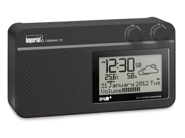 DAB+/UKW Radio IMPERIAL DABMAN 70, mit Wetterstation - Produktbild 1