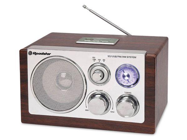 Retro-Radio ROADSTAR, UKW/MW, USB, SD, wood