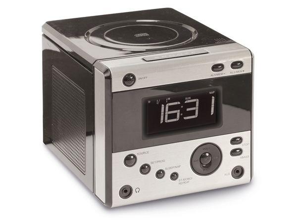 Uhrenradio CDR 234 mit CD-Player, schwarz, B-Ware - Produktbild 1