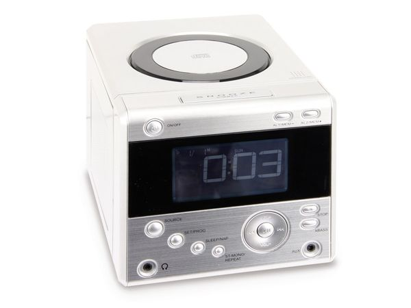 Uhrenradio CDR 234 mit CD-Player, silber, B-Ware