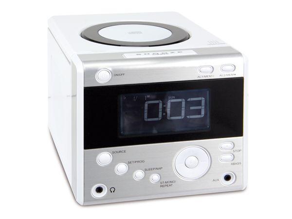 Uhrenradio CDR 234 mit CD-Player, weiß, B-Ware