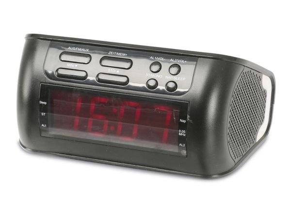 Uhrenradio mit Audio-Eingang, schwarz, B-Ware - Produktbild 1