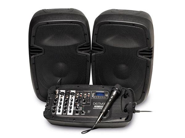 Lautsprecher-Set DENVER DJ-200, mit Mikro und Mischpult
