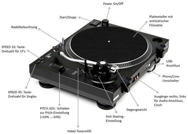 Schallplattenspieler DUAL DTJ 301.1, USB - Produktbild 8