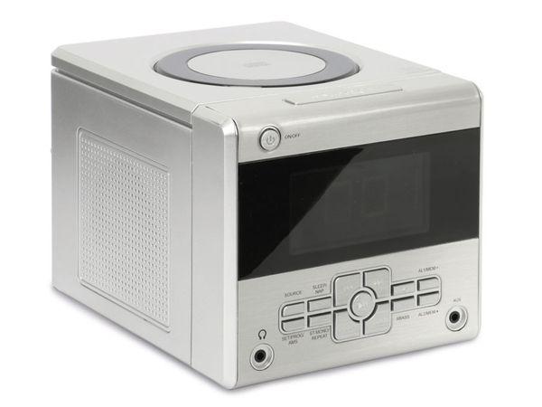 Uhrenradio mit CD-Player, silber, B-Ware - Produktbild 1