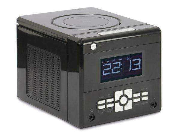 Uhrenradio mit CD-Player, schwarz, B-Ware - Produktbild 1