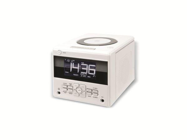 Uhrenradio mit CD-Player, weiß, B-Ware - Produktbild 1
