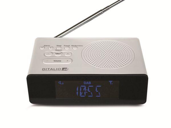 DAB+/UKW Uhrenradio TECHNISAT Ditalio CR 2, weiß - Produktbild 1