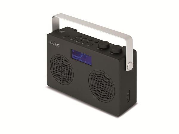 DAB+/UKW Uhrenradio TECHNISAT Ditalio BLU1, Bluetooth, schwarz - Produktbild 1