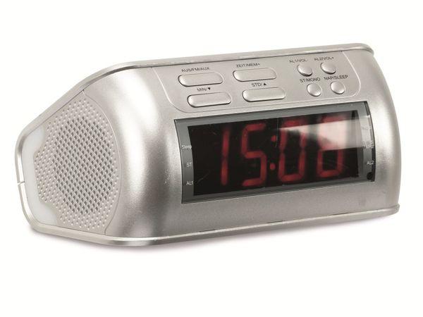 Uhrenradio mit Audio-Eingang, silber, B-Ware - Produktbild 1