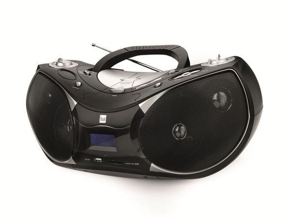 Stereo CD-Player DUAL P 110 mit Radio, USB und SD, schwarz