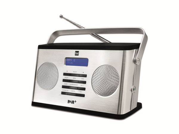 DAB+/UKW Stereo-Digitalradio mit Aluminiumfront DUAL DAB 10S
