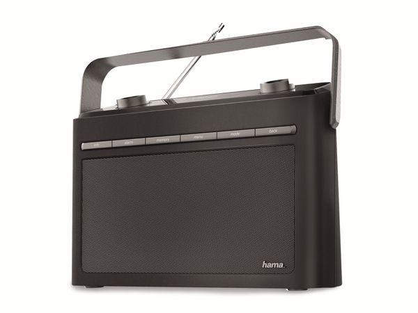 DAB Uhrenradio HAMA DR50, schwarz - Produktbild 1