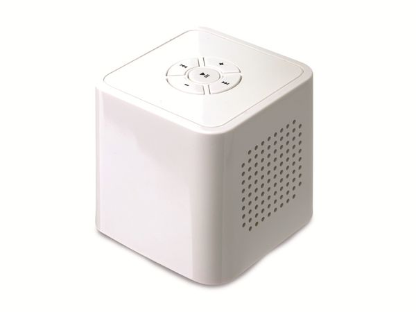 Portabler Lautsprecher, weiß, B-Ware - Produktbild 1