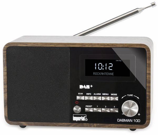 DAB Radio IMPERIAL DABMAN 100, Holzoptik