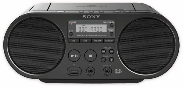 CD-Player SONY ZS-PS55B, schwarz, DAB+, CD, USB