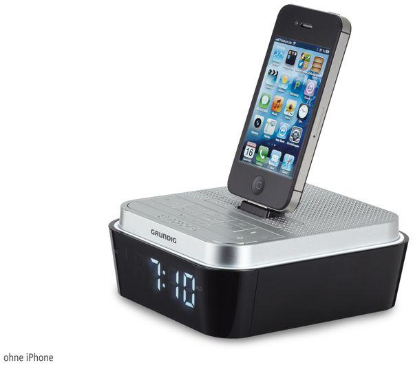 Radiowecker GRUNDIG Sonoclock 930 iP, silber/schwarz - Produktbild 1