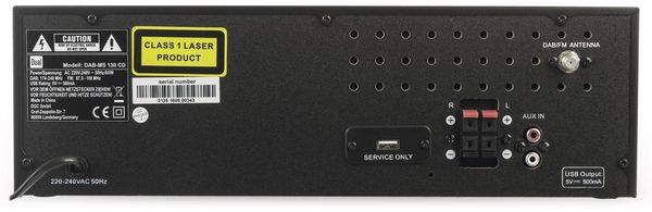 Stereoanlage DUAL DAB-MS 130 CD - Produktbild 6