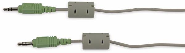 Audio-Verbindungskabel, 1,8m, grau, stereo - Produktbild 1
