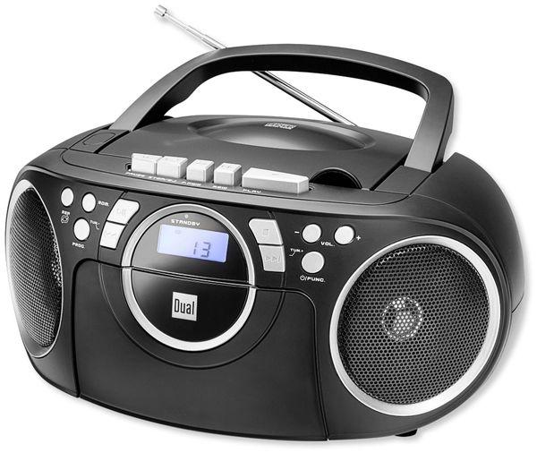 CD-Player DUAL P70, schwarz, Kassette - Produktbild 1