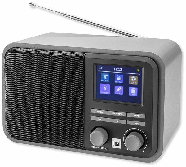 DAB+ Radio DUAL DAB 51, schwarz, Akku, Bluetooth - Produktbild 1