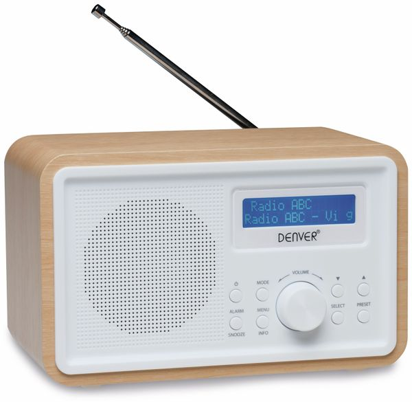 DAB+/FM Digitalradio DENVER DAB-35, weiß - Produktbild 1