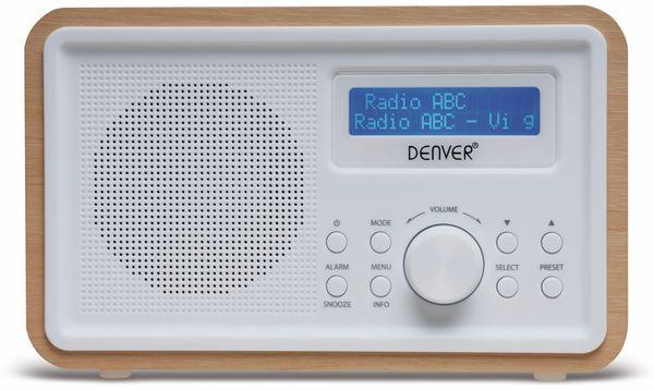 DAB+/FM Digitalradio DENVER DAB-35, weiß - Produktbild 2