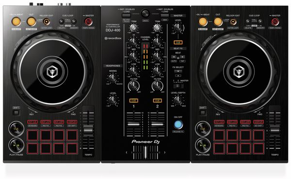 DJ Controller PIONEER DJ DDJ-400, schwarz - Produktbild 3