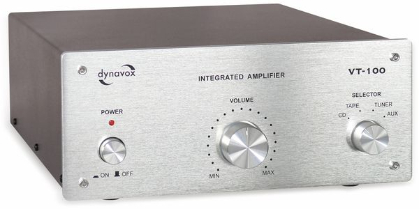 Vollverstärker DYNAVOX VT-100, silber - Produktbild 1