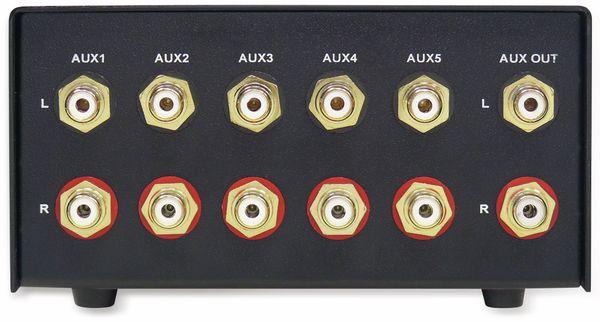 Eingangs-Erweiterung/Umschalter DYNAVOX AUX-S, silber - Produktbild 4