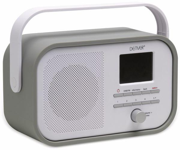 DAB+/FM Digitalradio DENVER DAB-40, grau - Produktbild 1