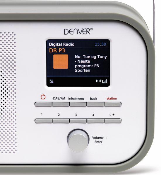 DAB+/FM Digitalradio DENVER DAB-40, grau - Produktbild 4