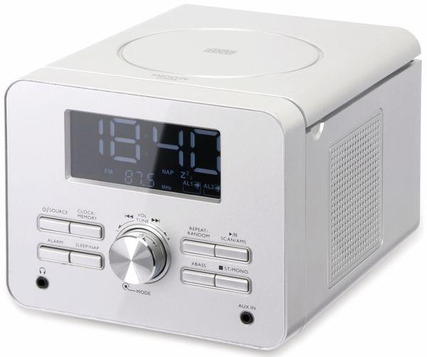 Uhrenradio CDR 264 mit CD-Player, silber, B-Ware - Produktbild 1