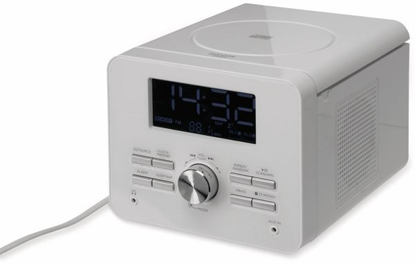 Uhrenradio CDR 264 mit CD-Player, weiß, B-Ware - Produktbild 1