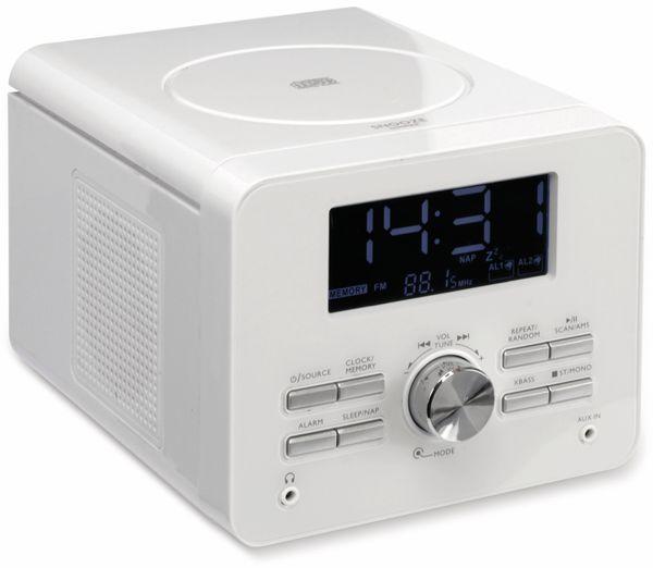 Uhrenradio CDR 264 mit CD-Player, weiß, B-Ware - Produktbild 2